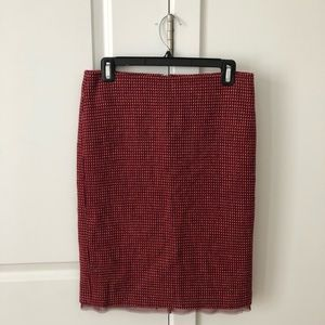 Kenneth Cole red wool pencil skirt size 4